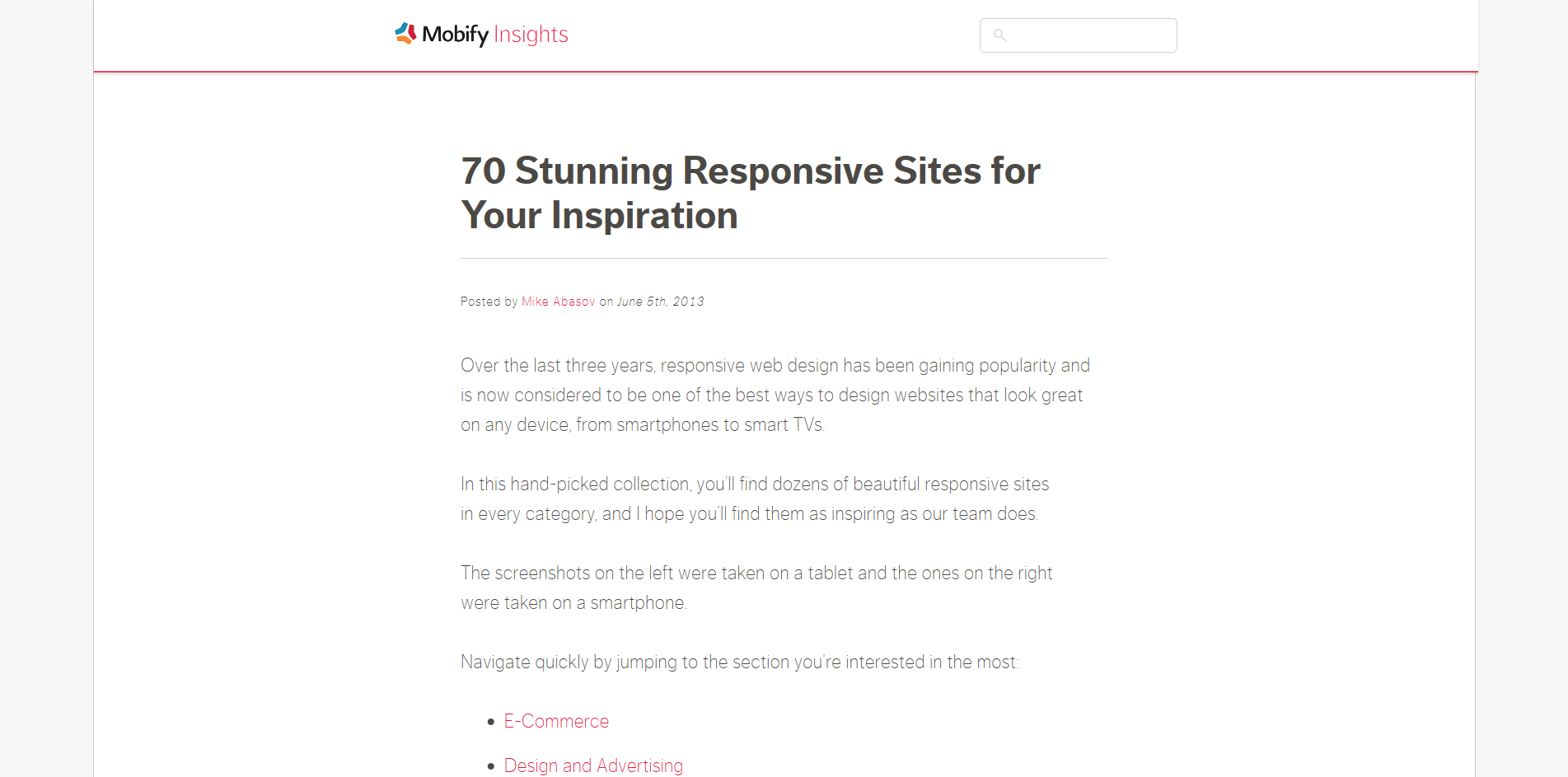 400 websites that showcase responsive design ugurus the longest list found on this article mobify s list focuses on apparel and clothing businesses that have worked hard at making an impact on potential