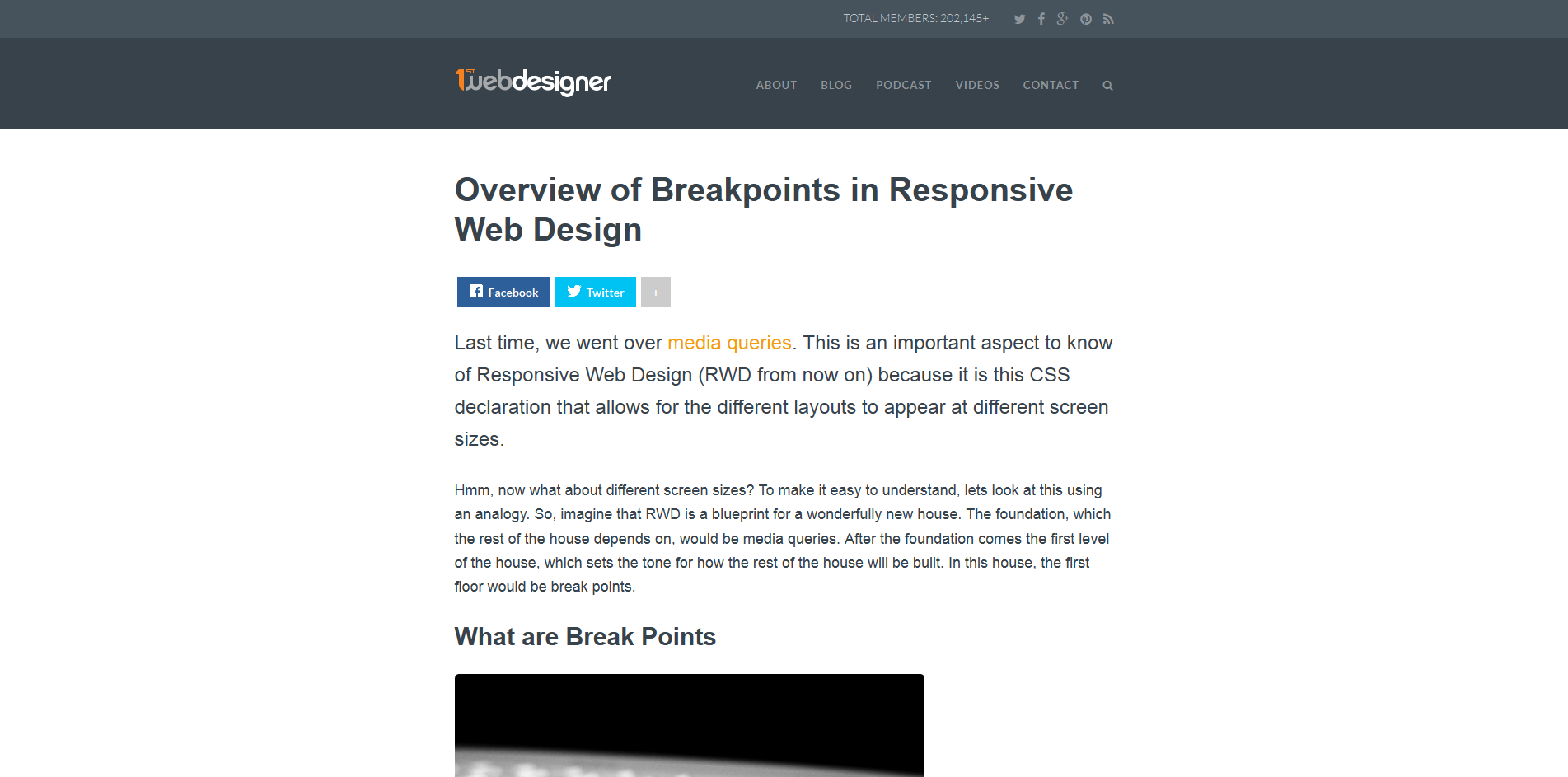 Responsive Web Design Common Breakpoints