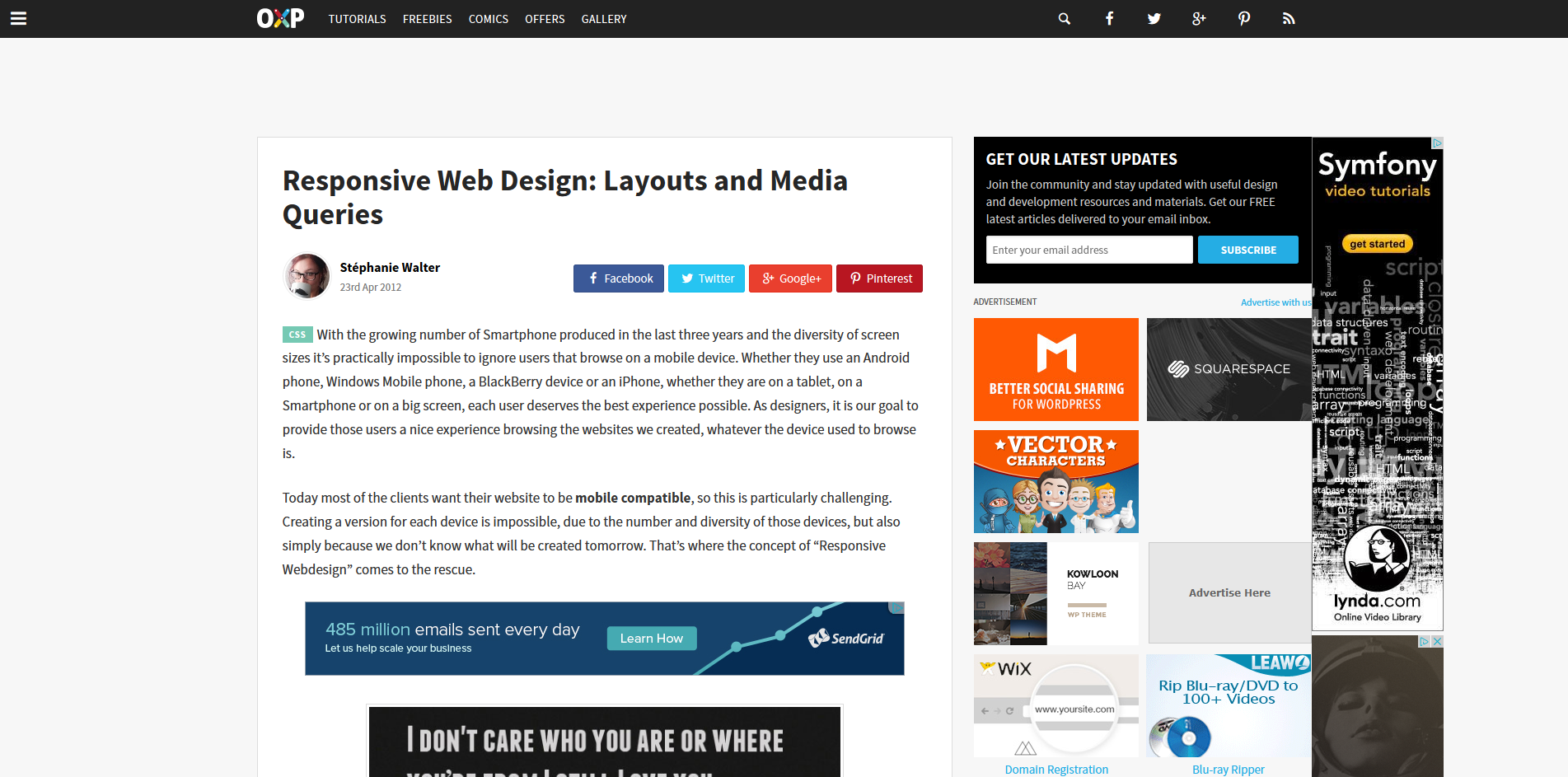 Responsive Design Media Queries - uGurus
